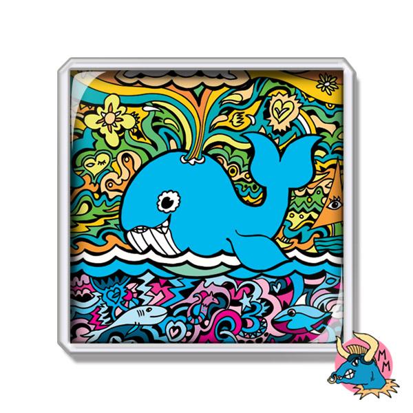 Blue Whale Fridge Magnet
