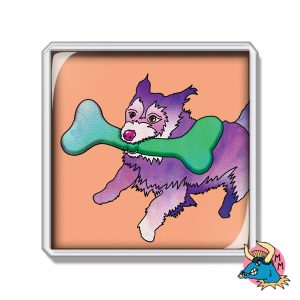 Dog and Bone Fridge Magnet