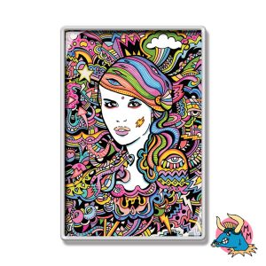 Electric Girl Fridge Magnet