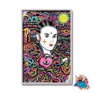 Goth Girl Fridge Magnet