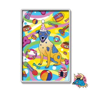Party Dog Fridge Magnet