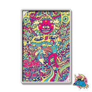 Rave Psychedelic Fridge Magnet