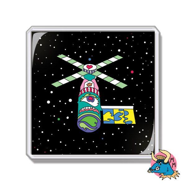 Satellite Fridge Magnet