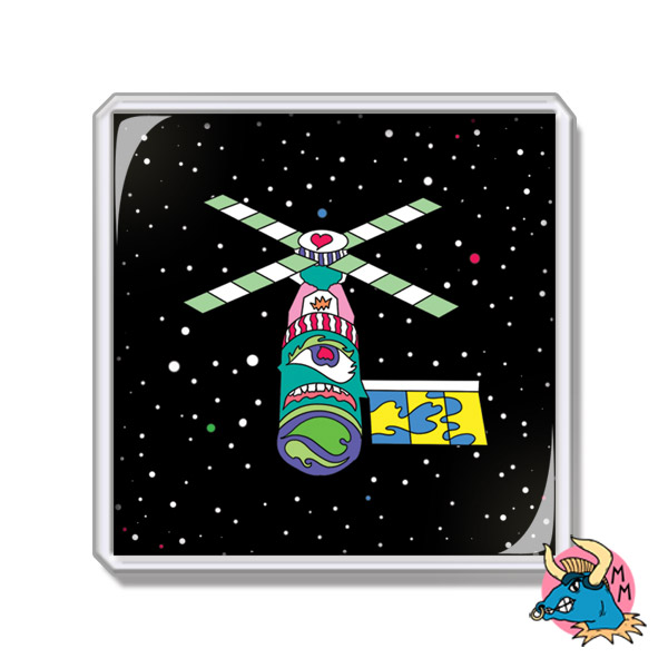 Satellite Fridge Magnet