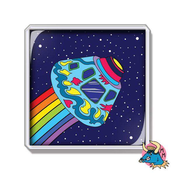 Spaceship Fridge Magnet