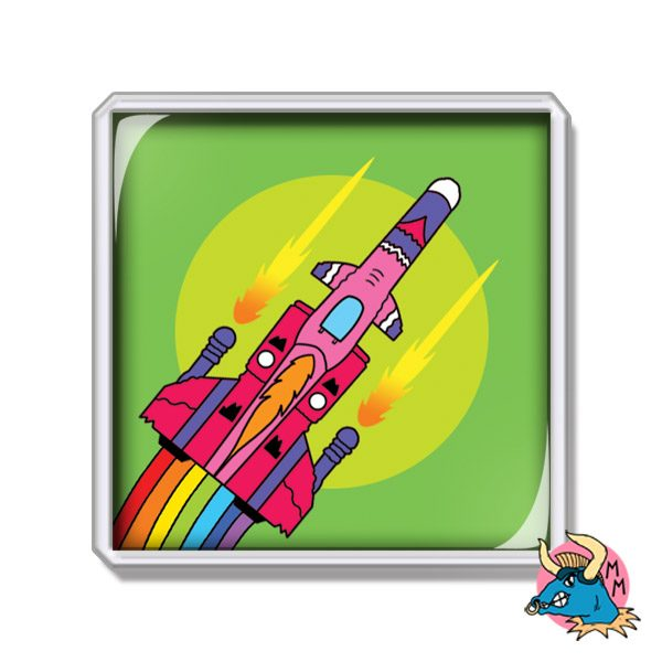Spaceship Fridge Magnet
