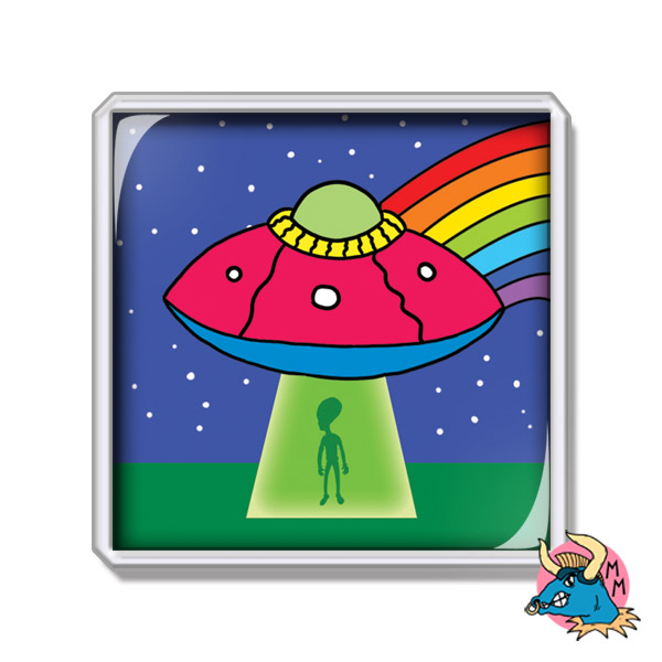 UFO Fridge Magnet