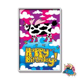 Cow Happy Birthday Fridge Magnet