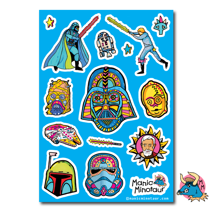 Darth Vader Star Wars Stickers
