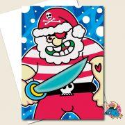 Pirate Christmas Card