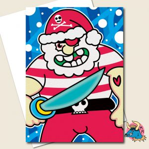 Pirate Christmas Card
