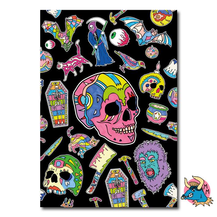 Skull Sketchbook Front Cover