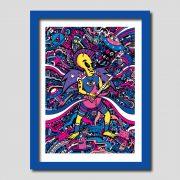Rock Star Alien Art Print