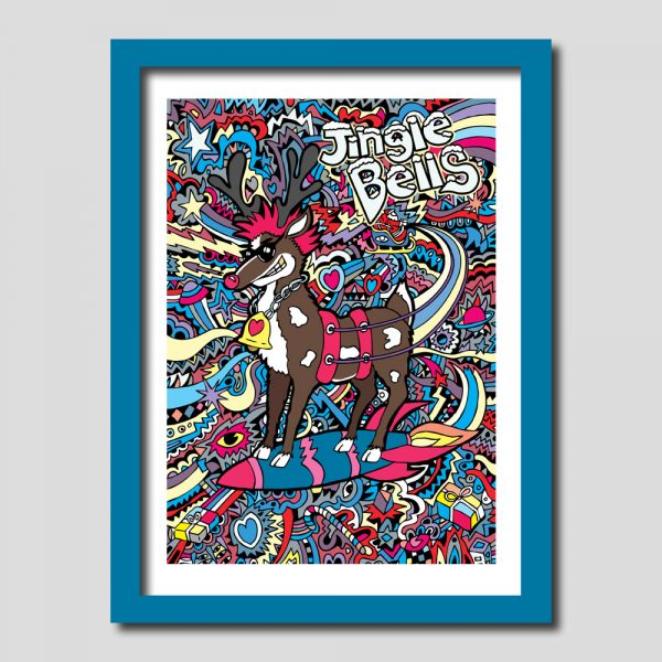 Rudolph Red Nosed Reindeer Art Print