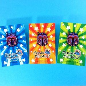 Boba Fett Enamel Pins on Backing Cards