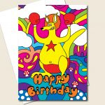 Kangaroo Birthday Card