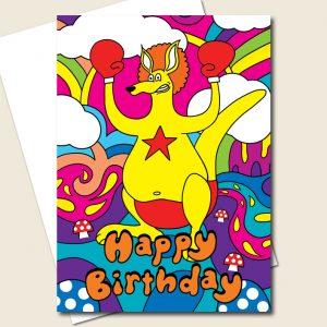 Kangaroo Birthday Card