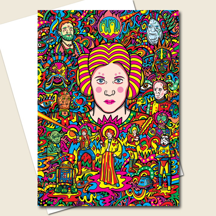 Princess Leia Greeting Card