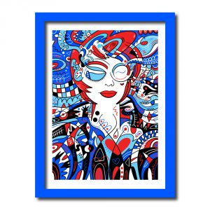Cherry Framed Art Print by Manic Minotaur