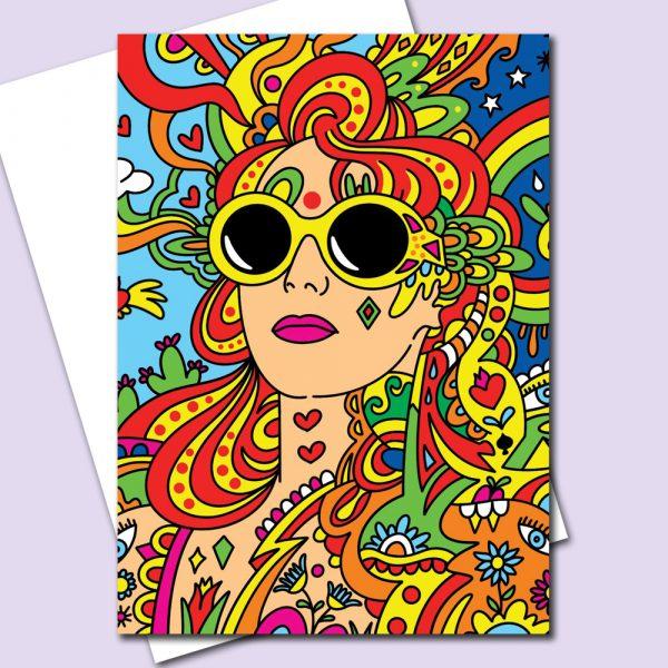 Rainbow Republic Greeting Card